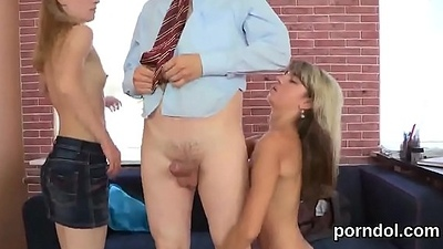 Kissable bookworm gets teased increased by drilled by her older motor coach