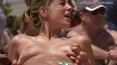 Nice blonde girl Topless fool away