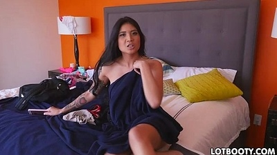 Big tits and fat ass sexy asian Brenna Sparks gets fucked