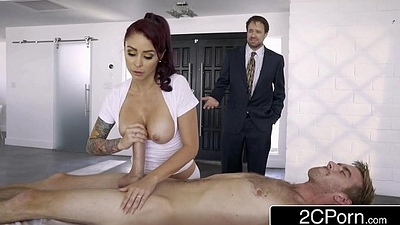 Light-hearted Housewife Monique Alexander Sets Up Naughty Home Spa