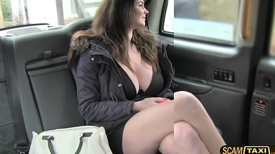 Hottie Tasha gets group-fucked in missionary by the drivers big dig up