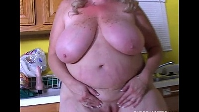 Incomparable big tits old spunker loves to fuck will not hear of soaking untidy pussy