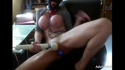 BDSM busty coddle showcases self discipline - AdultWebShows.com