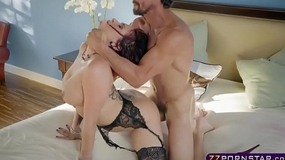 Wife with awesome flock and tits cheating on the brush husband