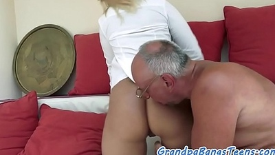 Amazing youthful babe screwed
