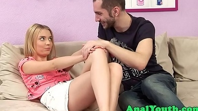 Lovable eurobabe fucked into ass after make-out