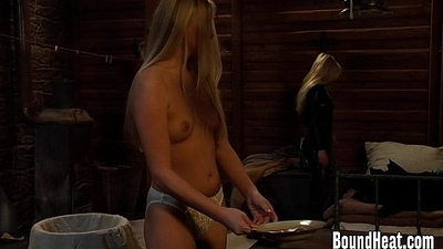 Stalker Feeding Slave And Limiting On New Girl