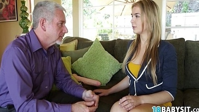 Enticing Lustful Babysitting Tease Having Sex