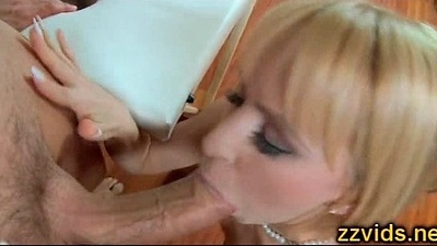 Gorgeous blonde Aleska Diamond screwed hard