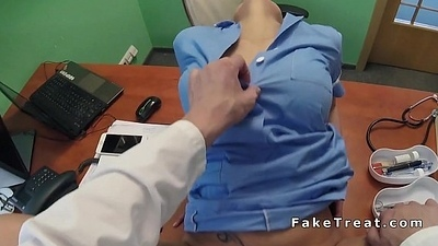 Doctor finally fucks busty be fond of pov