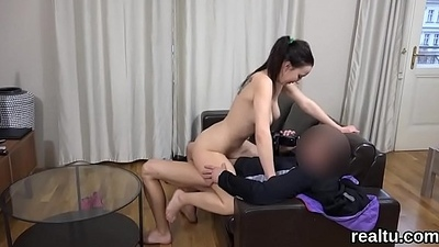 Exceptional czech girl gets tempted involving the mall and team-fucked involving pov