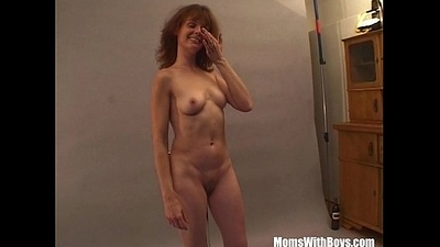 Sexy Photoshoot Connected with MILF Brunette Residuum Up Fucked