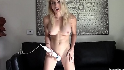Blonde webcam goddess 27 - Massager orgasm