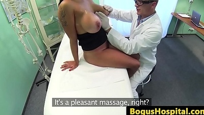 Bigtitted patient pussypounded by say no to doctor