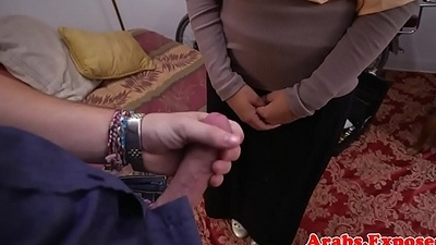 Arabian amateur fucks and sucks be fitting of cash