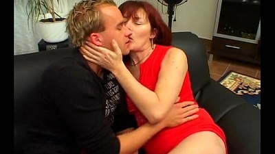 Riding redhead hairy milf by young individuals