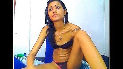 Indian teen crippling coal-black bra and panty 3