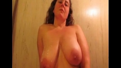 Massive Big-Boobed Dilettante BBW Milf Mouth Added to Titty Fuck