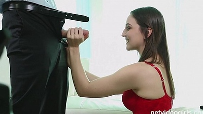 Pepper is a sexy amateur deepthroat star who emerges nervous as can be