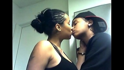 Hot white girlfriend kissing and doing relationship with her black boyfriend